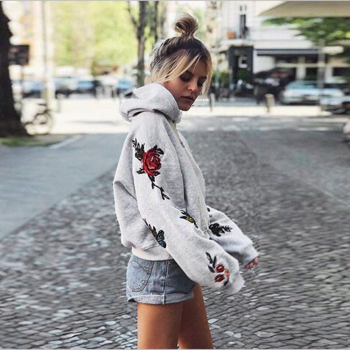 Inspirational ways to wear hoodies for women in 2021