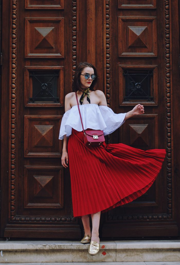 Best red skirts outfit ideas 2021