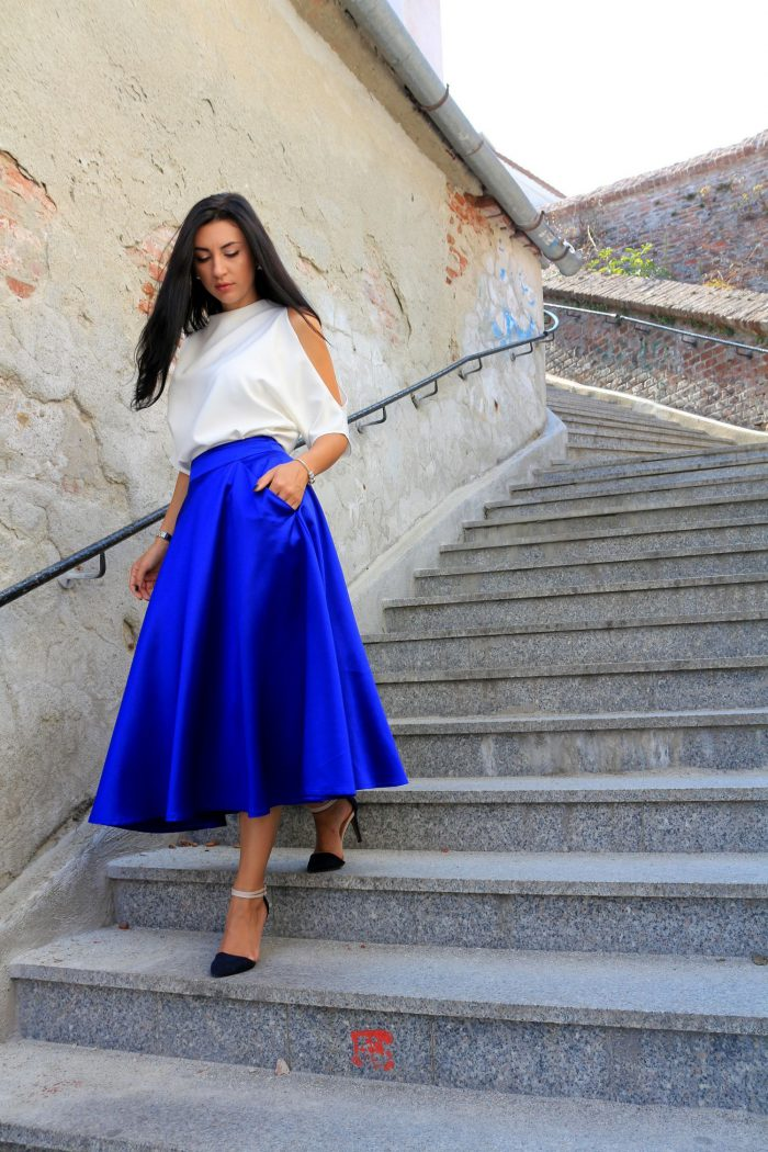 How should I style the blue skirt in 2021?