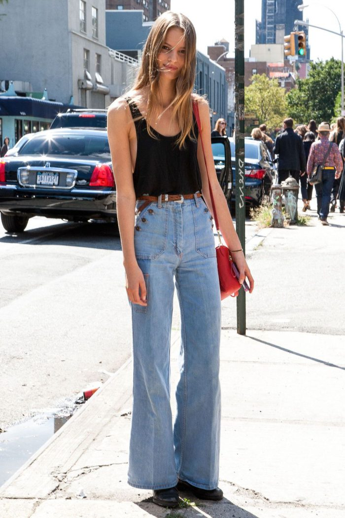 How to wear high waisted jeans and pants in 2021