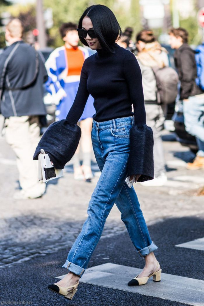 Black turtleneck outfits ideas for women 2021