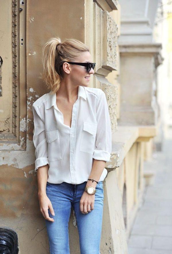 43 Ways To Wear Plain White Shirts This Summer 2021