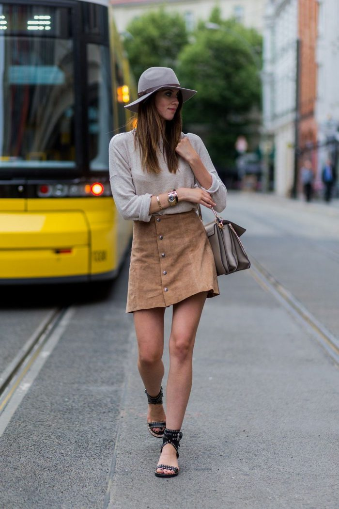 Suede fashion trend for women 2021