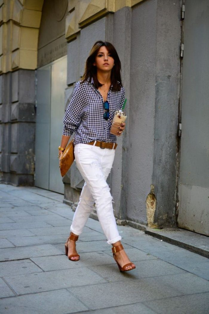 How to make button-down shirts look feminine in 2021
