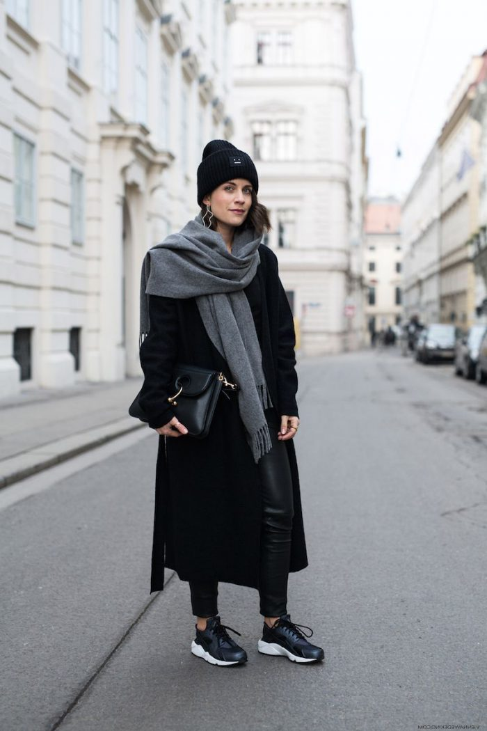 Here's how to make the scarf look amazing with your 2021 coat