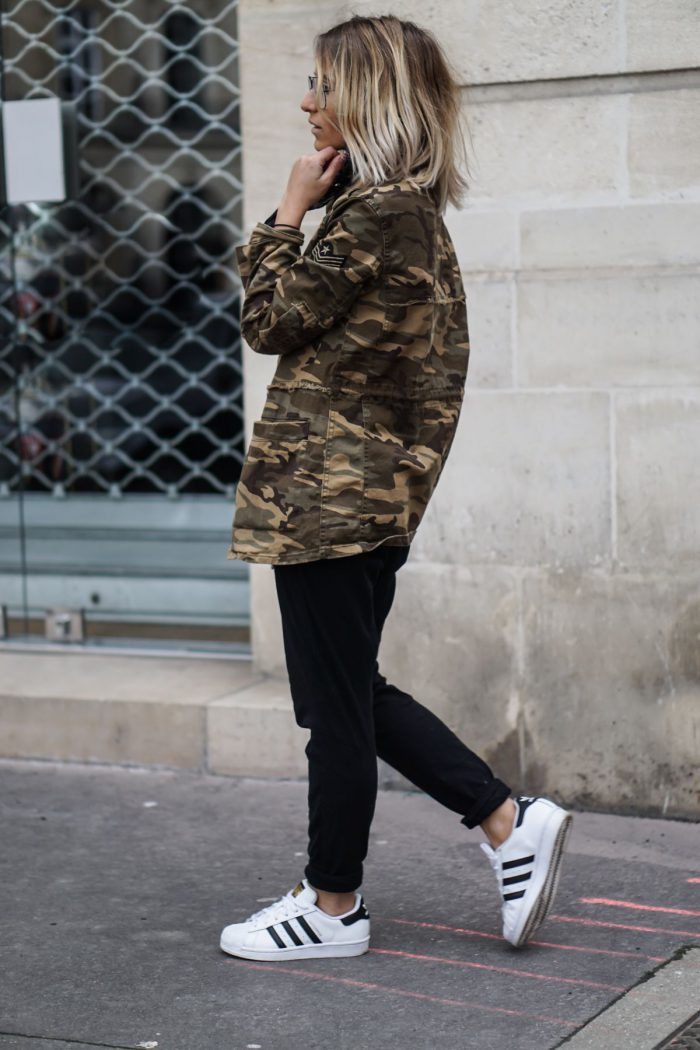 What should women wear with military jackets?  2021
