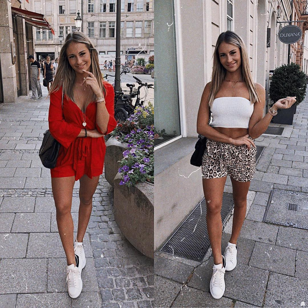 Best summer outfits with white sneakers 2021