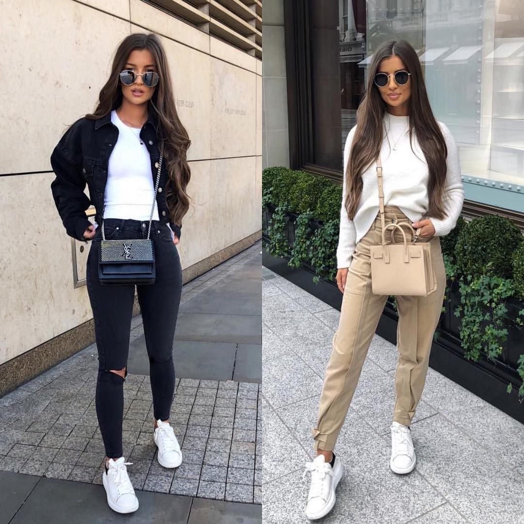 Best Ways To Wear White Sneakers For Street Hikes This Spring 2021