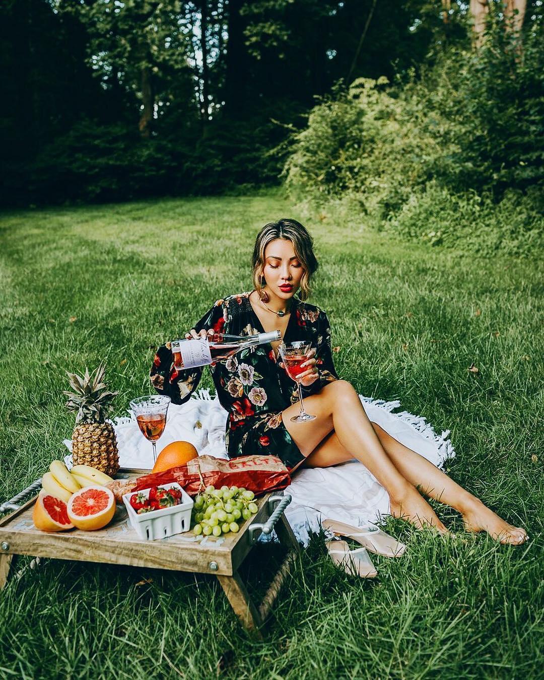Black floral rompers for spring picnics 2021