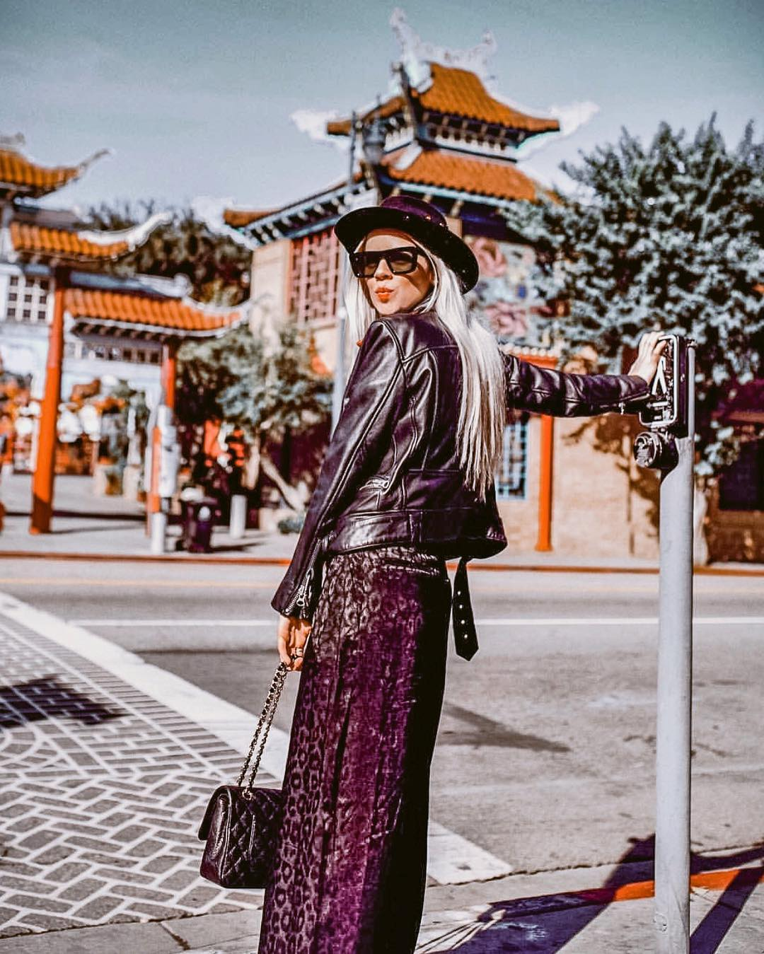 Bohemian Fall OOTD: maxi skirt and leather jacket 2021