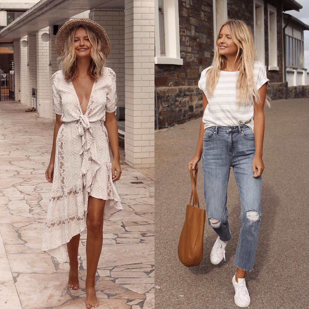 Boho versus casual style for the summer season 2021