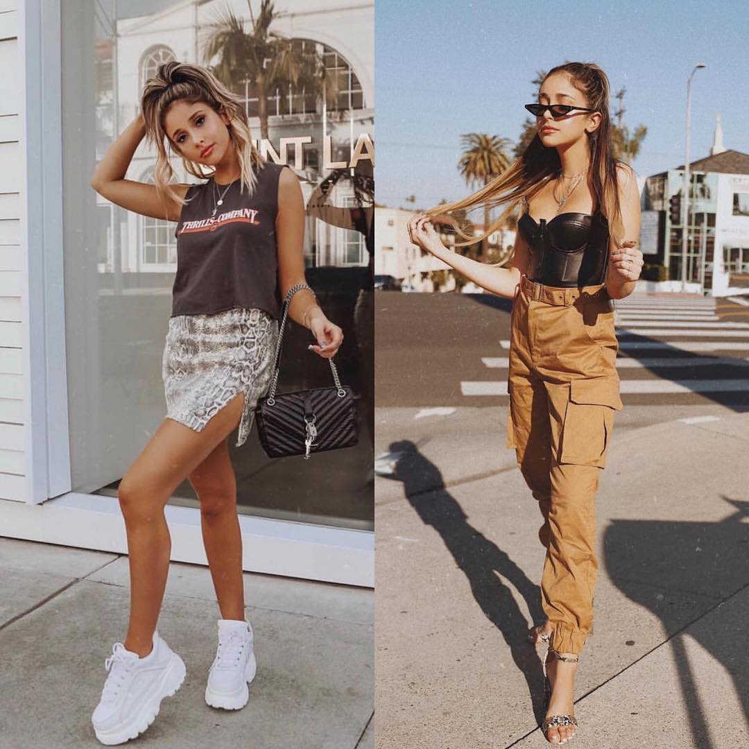 Cargo pants and skirt with snakeskin print: Coachella Inspiration 2021