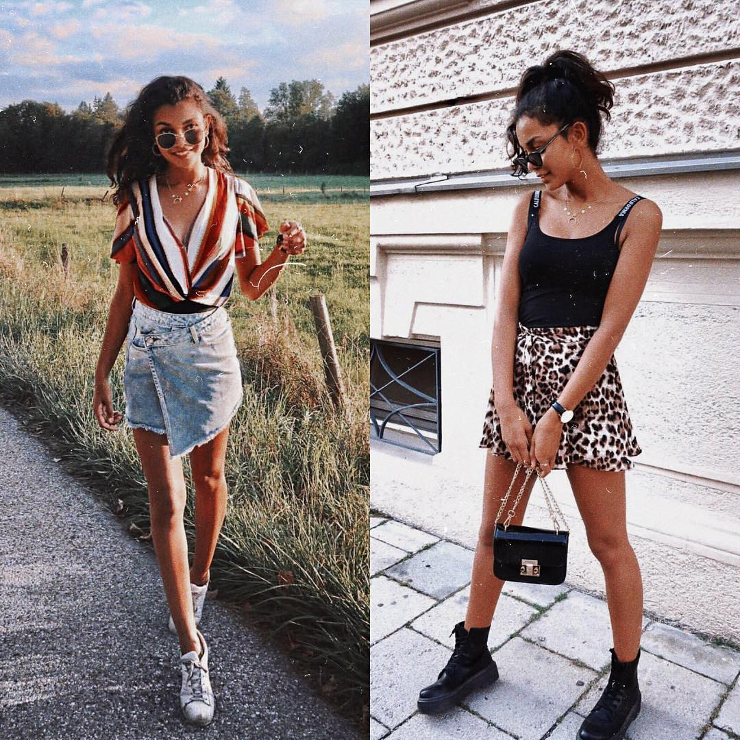 Skirt with jeans or leopard print for summer 2021