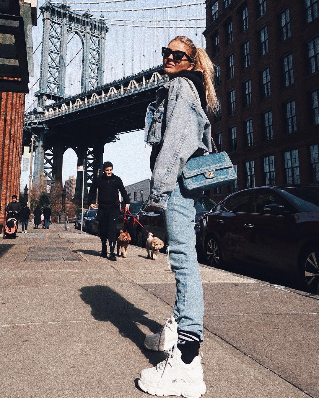 Double denim look: New York spring style 2021