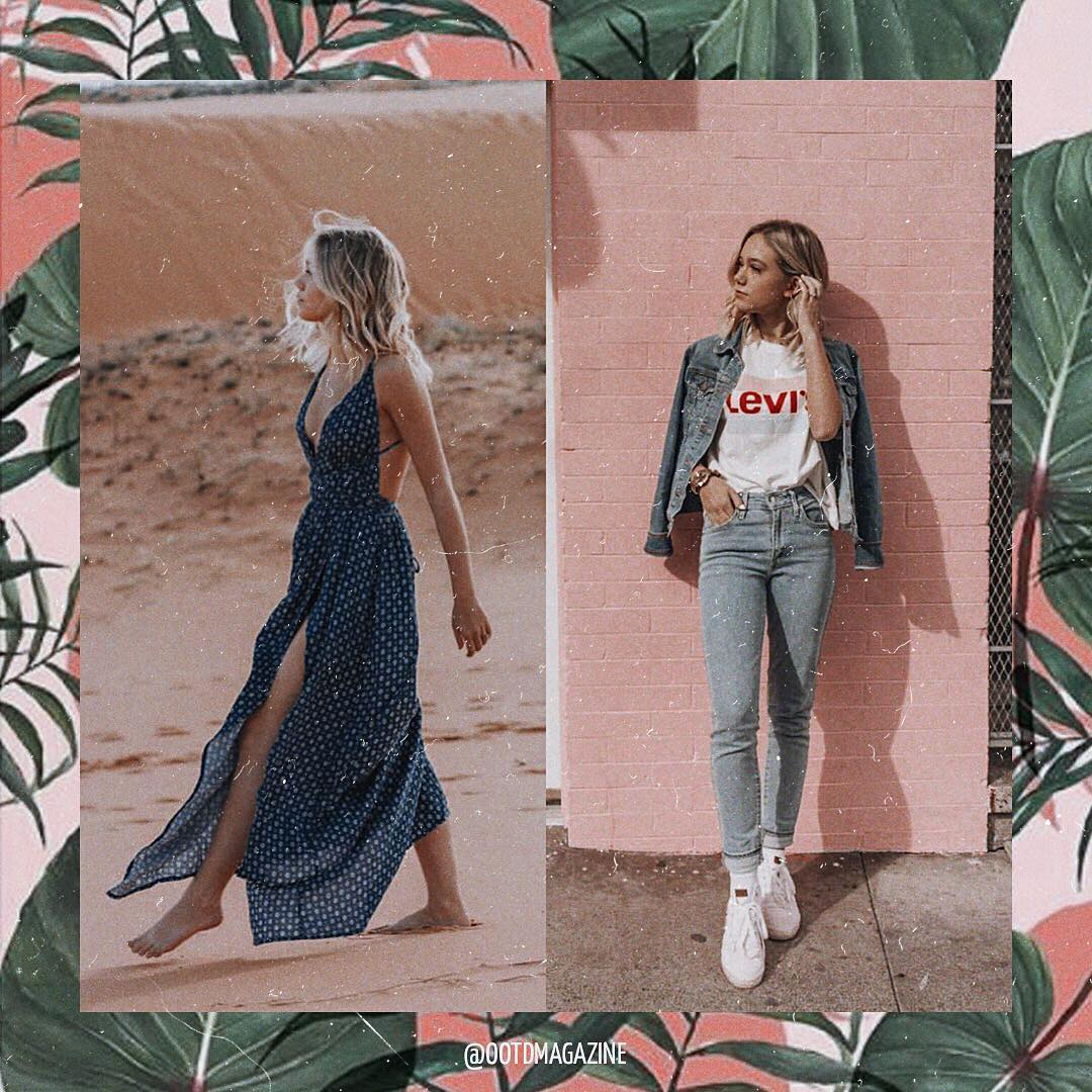 Double denim or maxi dress for summer days 2021
