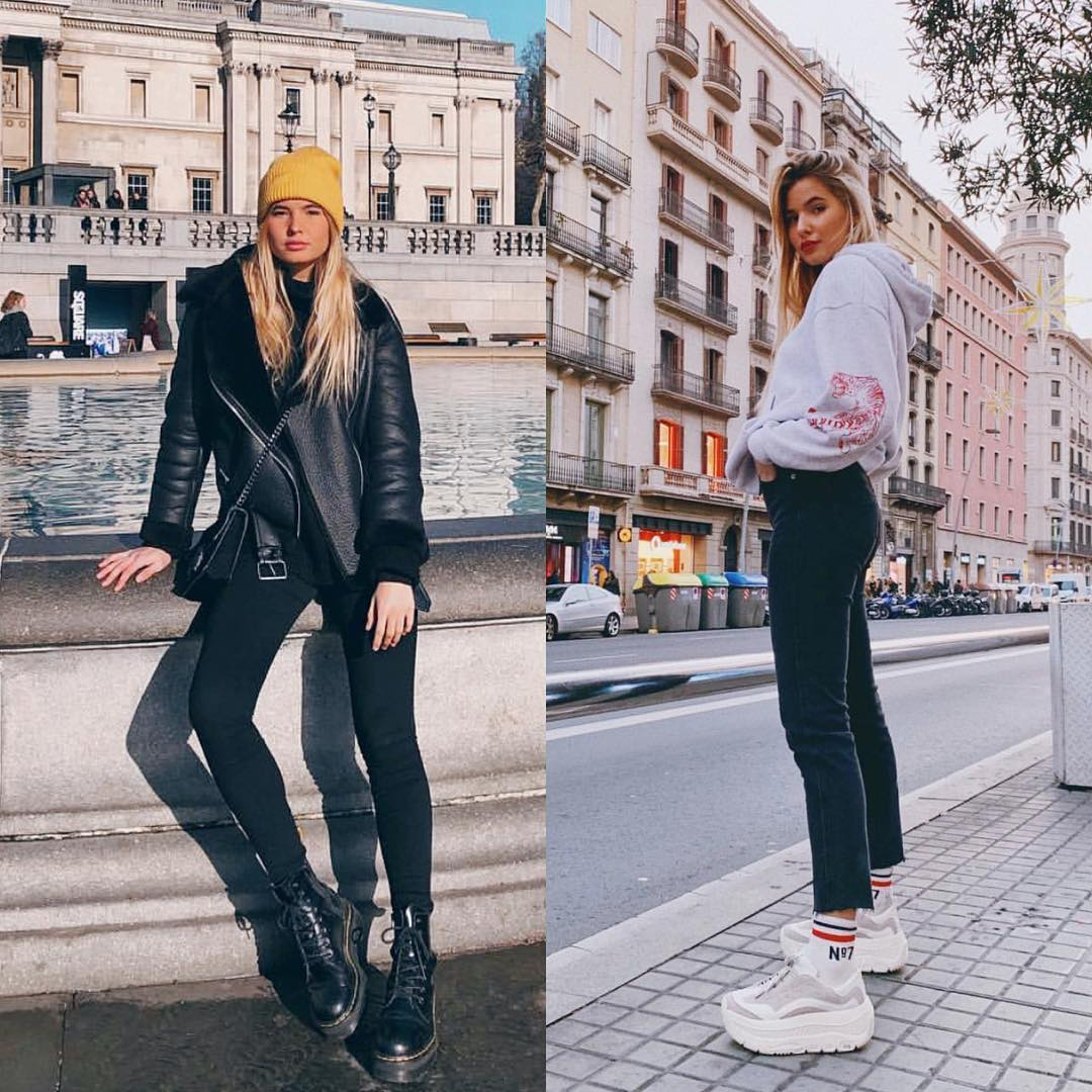 Essentials for the fall season: All black or platform sneakers 2021