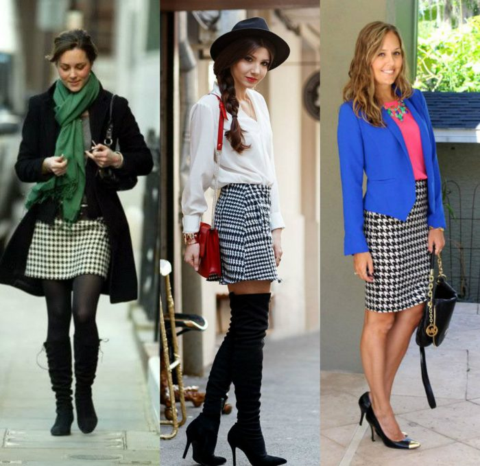 How to wear a houndstooth pattern in winter 2021