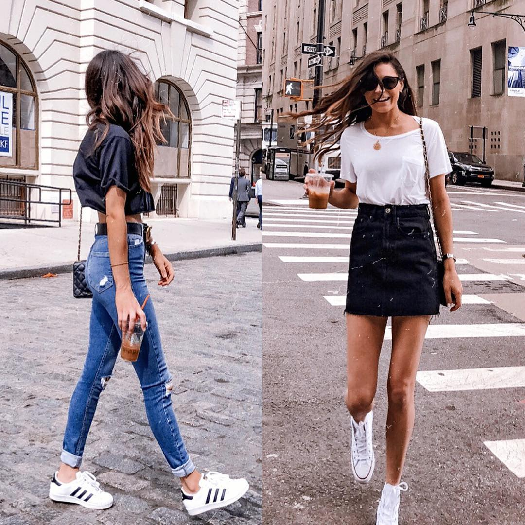 How to wear white sneakers and look special this summer 2021