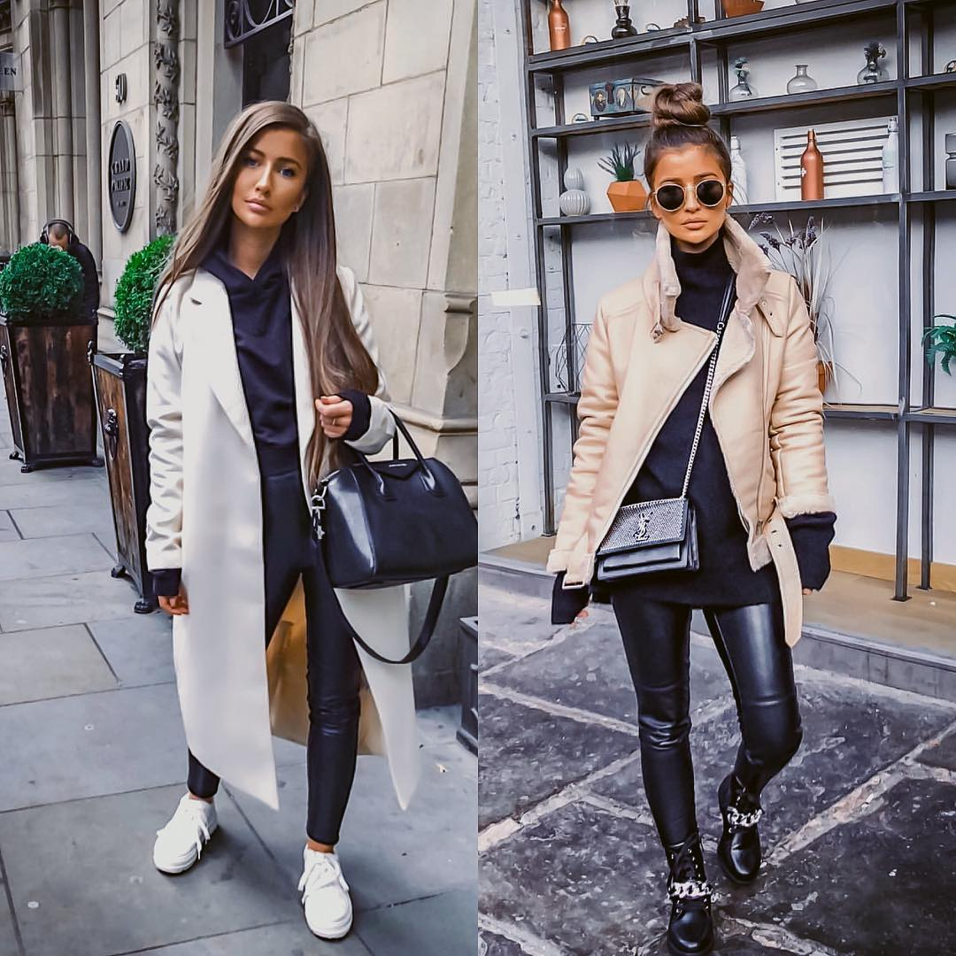 It Girl Essentials for winter: Statement outerwear and leather pants 2021