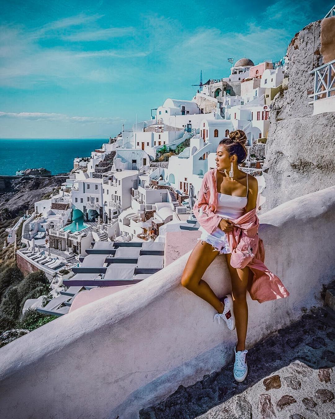 Pink kimono for Santorini trip this summer 2021