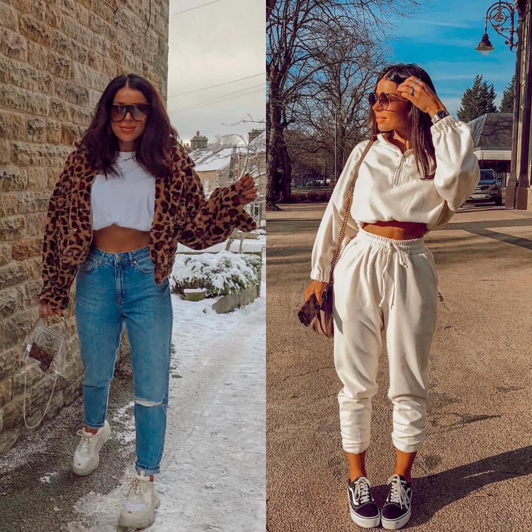 Sneakers and crop tops: sport style for leisure travel 2021