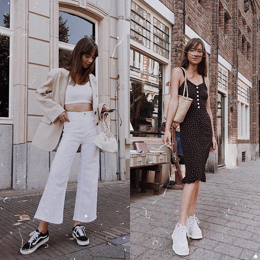 Sneakers can add an athleisure touch to any look this summer 2021