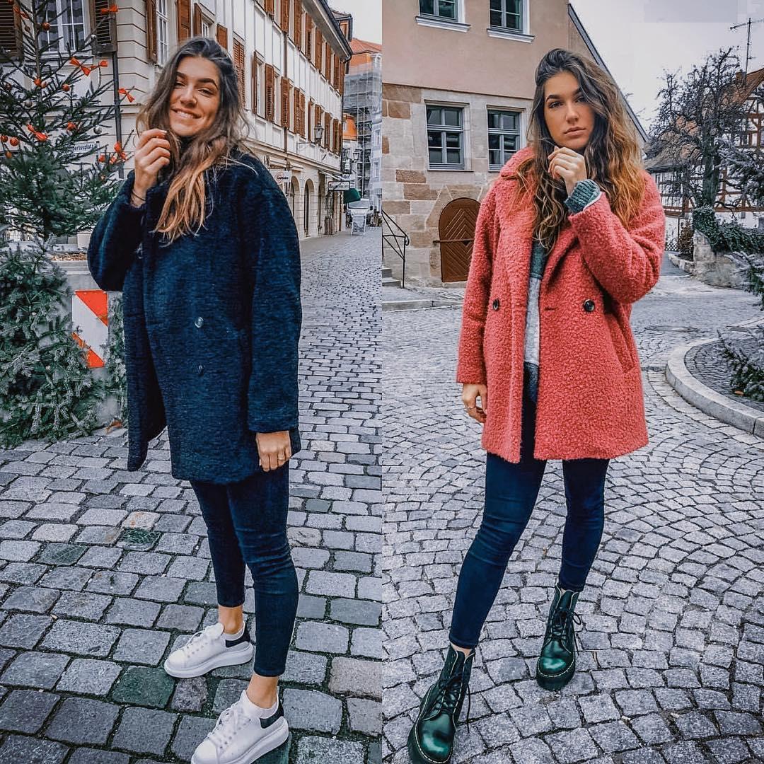 Teddy bear jackets for fall: black or pastel maroon 2021