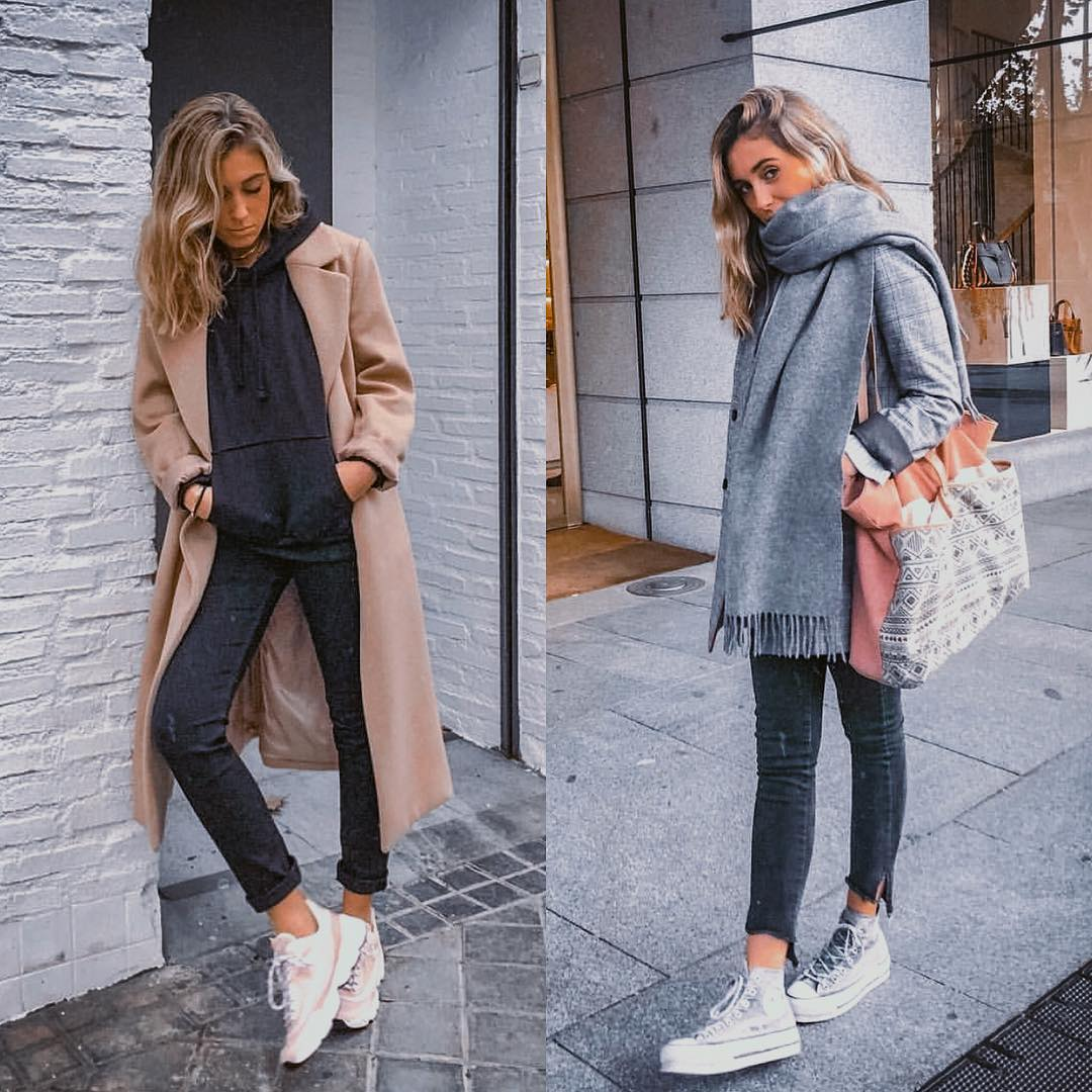Urban essentials and must-haves: coats, hoodies and oversized scarves 2021