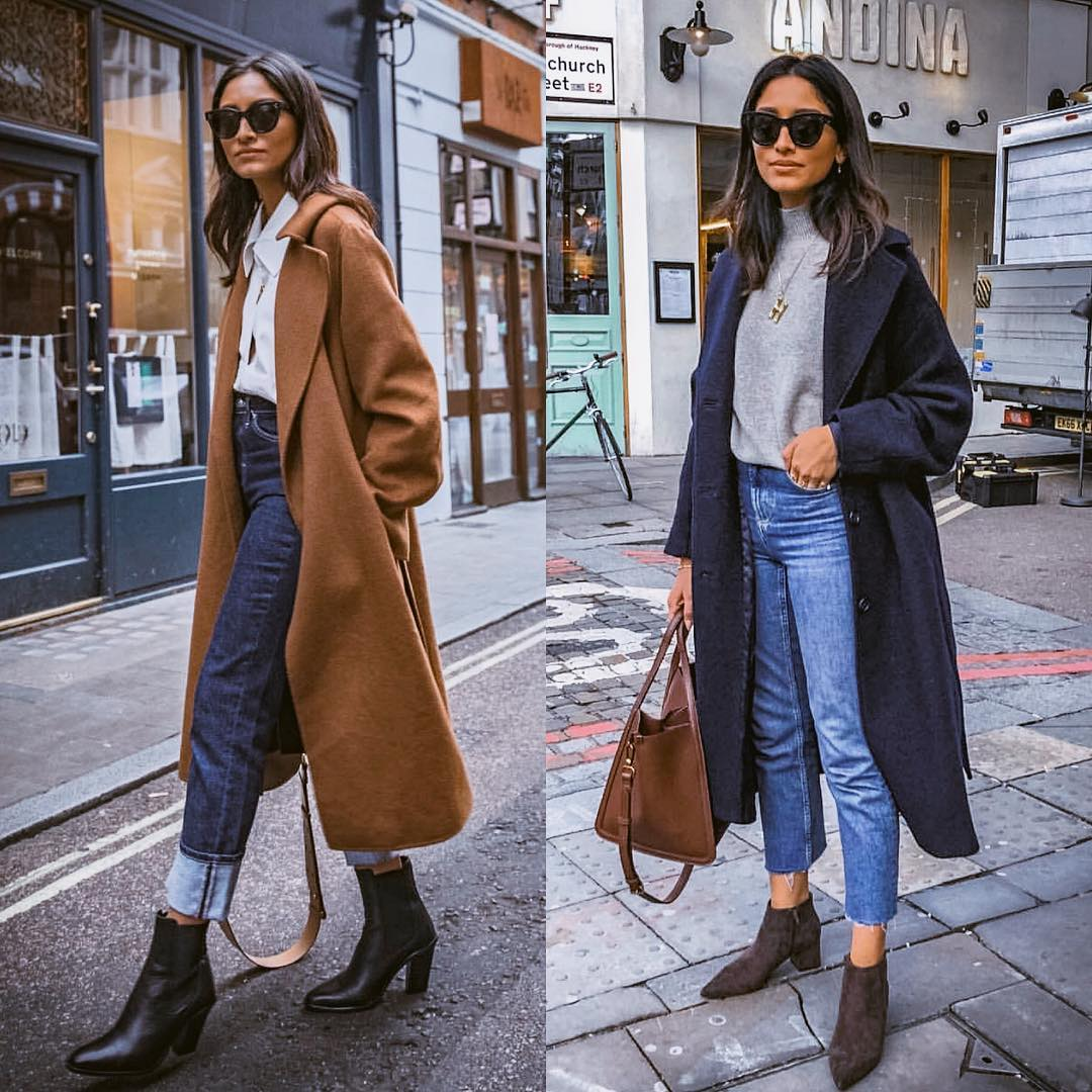 Long wool coats for autumn: street style inspiration 2021