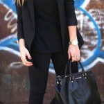 All Black Sporty Outfit With White   Sneakers Outfit