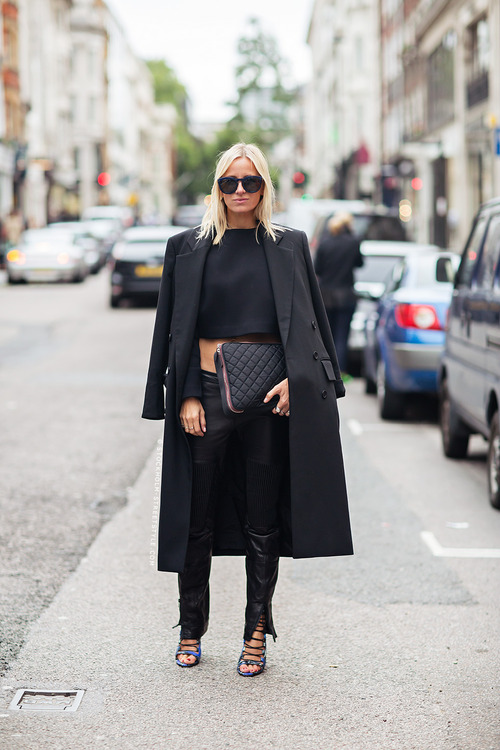 All In Black Outfit For Fall
