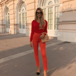 All Red Elegant Outfit Ideas