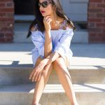 All White Look With Sneakers And Cat-Eye   Sunglasses Outfit