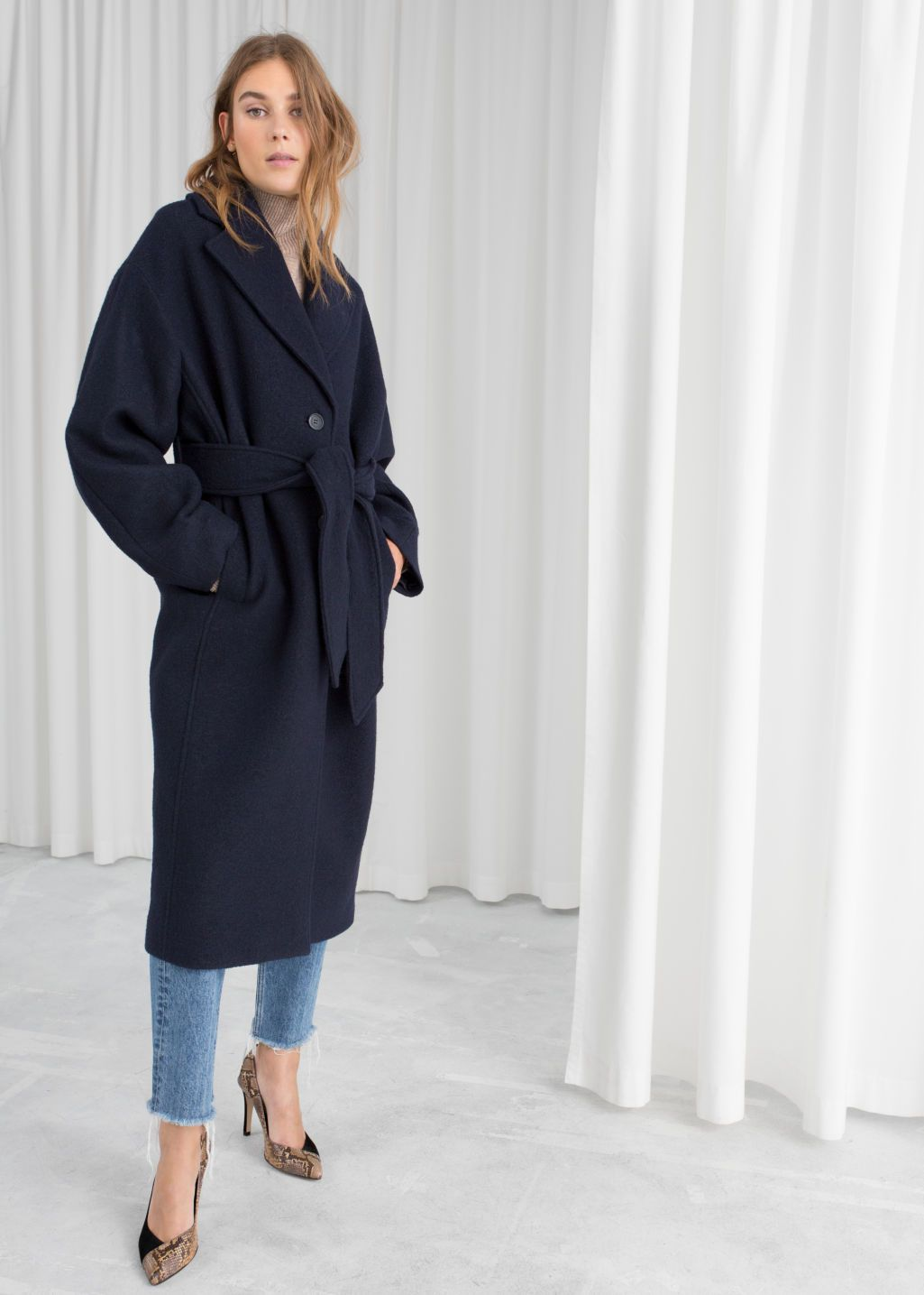Belted Wool Coat Outfit