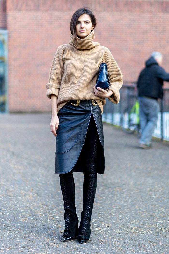 Best Ways To Wear Leather Skirts