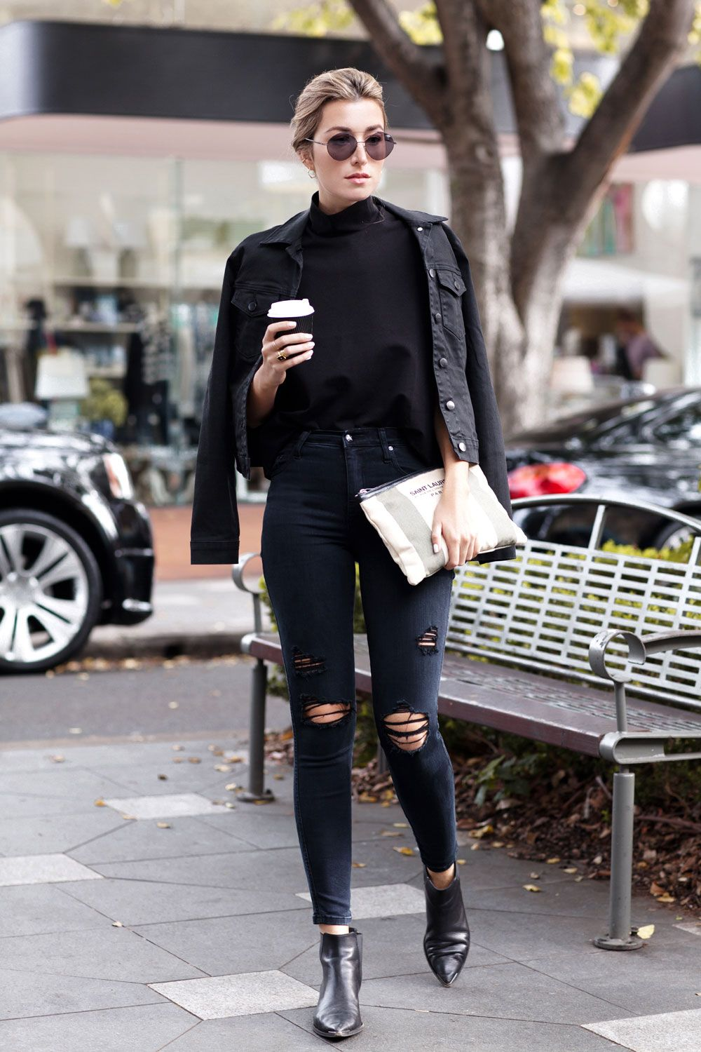 Black Jacket Outfit for Women