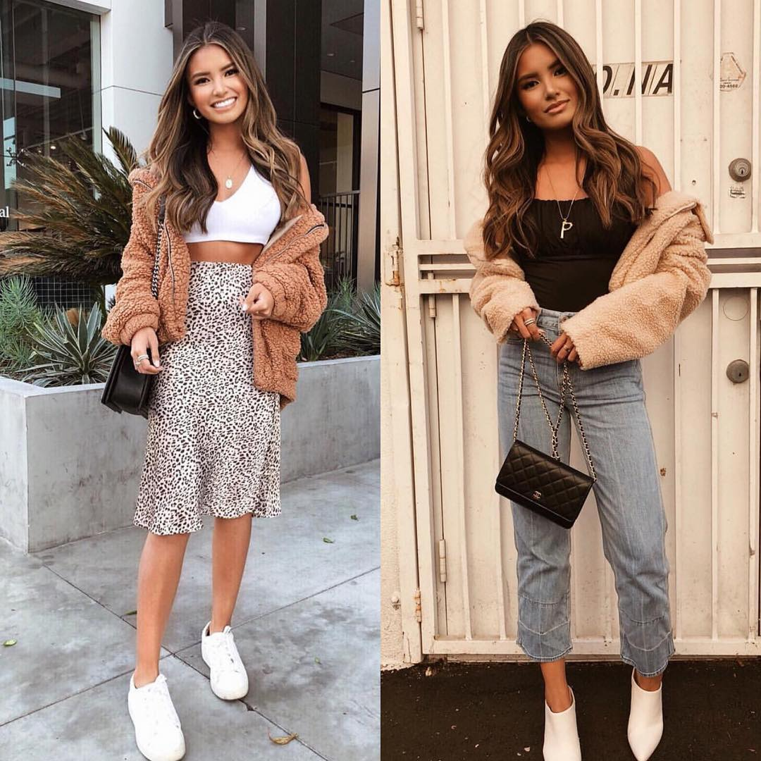 Boyfriend Jeans Or Leopard Print Skirt   Outfit