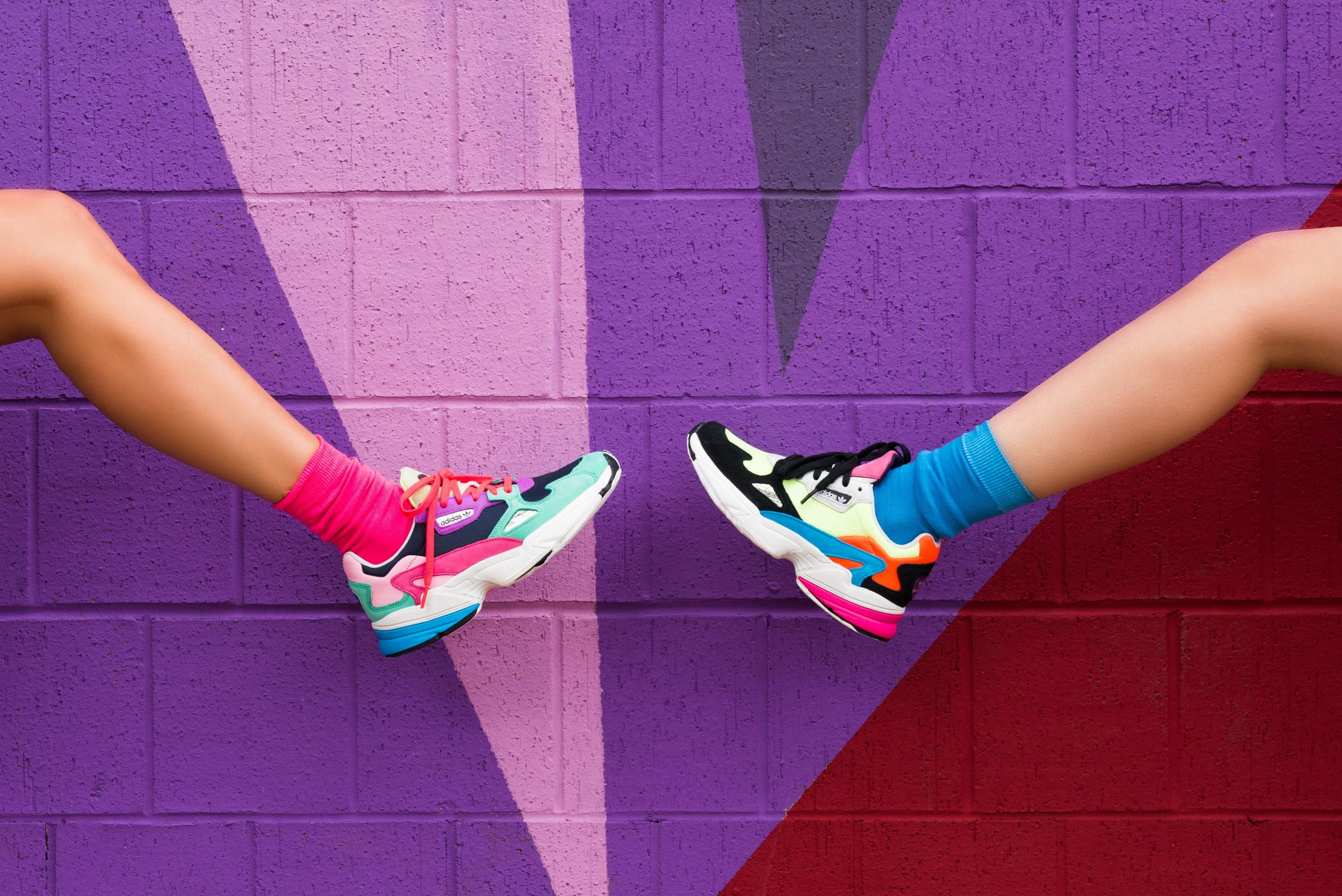 Bright Color Clothes And Multicolor   Sneakers Outfit