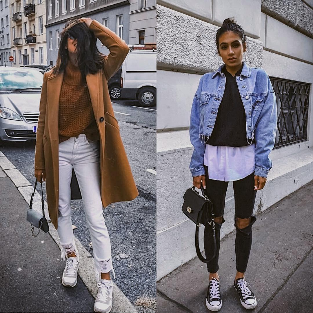Camel Coat Versus Denim Jacket Outfit