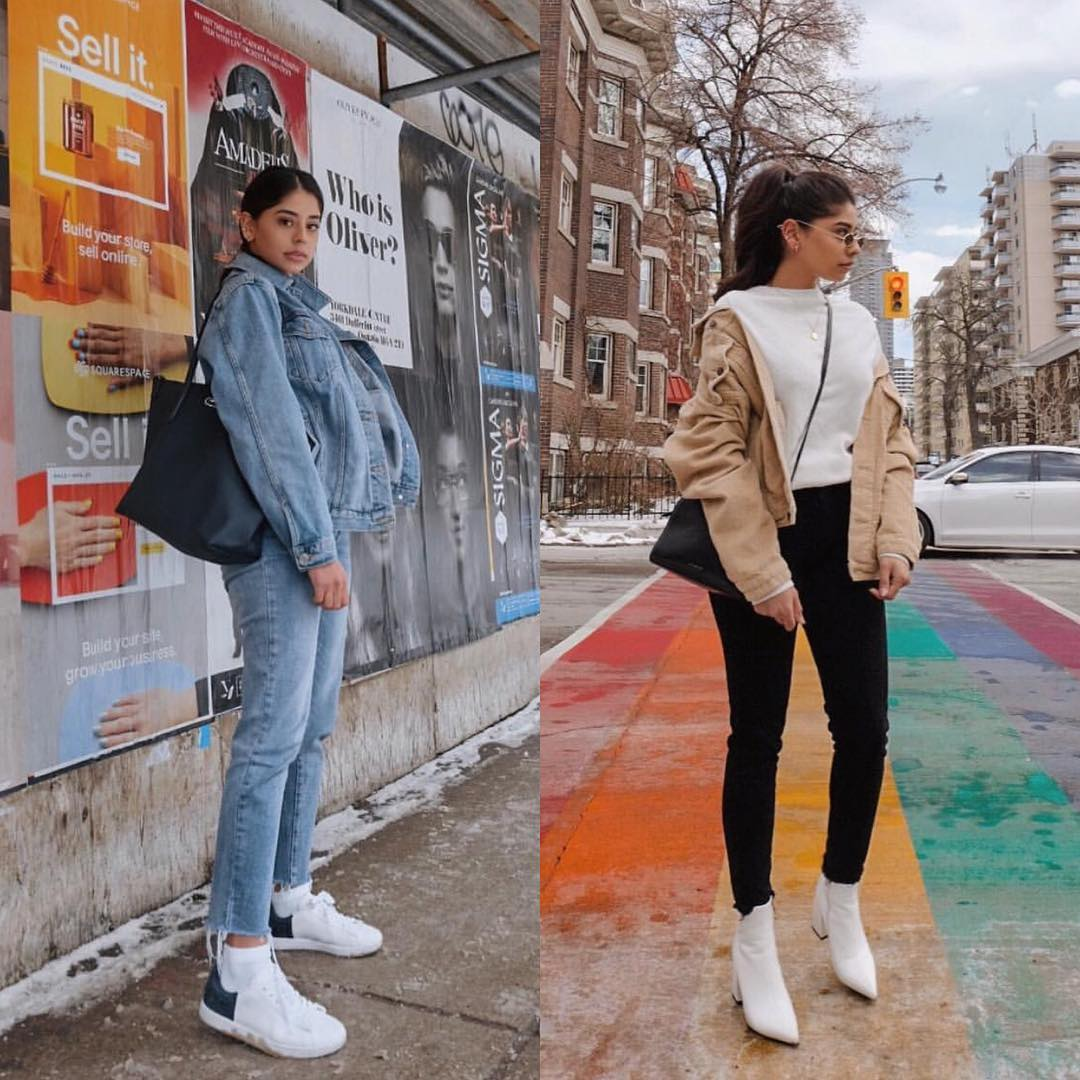 Camel Jacket And White Boots For Fall