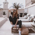 Cargo Jumpsuit In Black And White   Sneakers For Summer