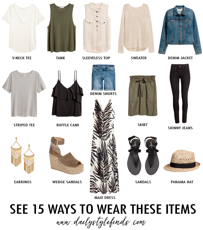 Casual Basics For Summer Vacation