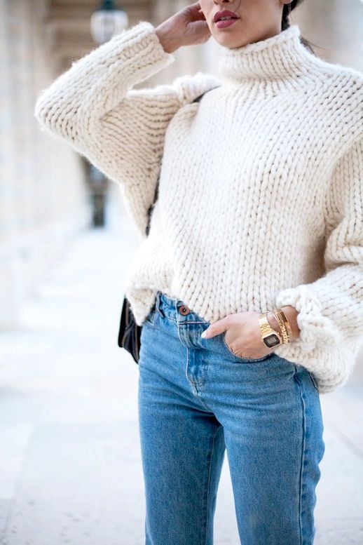 Chunky Turtleneck Sweater Outfit