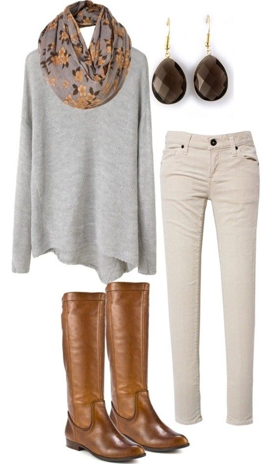 Cream Grey Color For Fall Outfit
