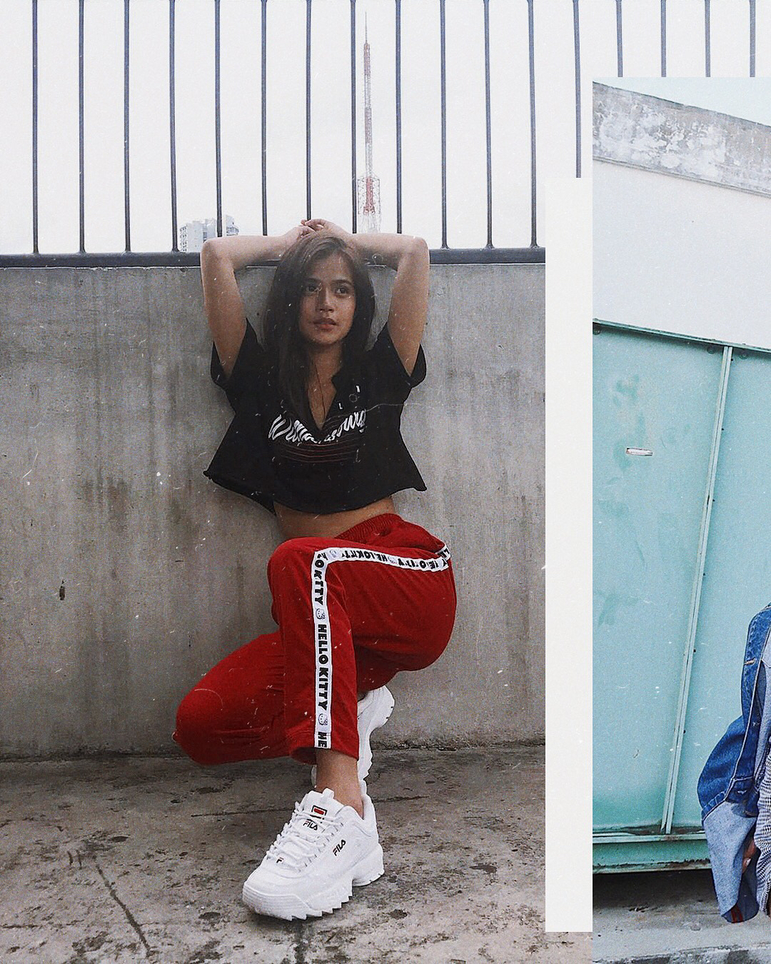 Crop Top, Joggers And White Sneakers For   Summer