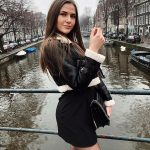 Cropped Shearling Aviator Jacket In Black   And LBD Outfit
