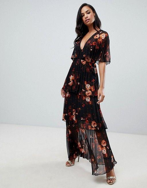 Dark Floral Bohemian Dress