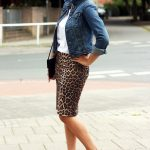 Denim Or Leopard Print Skirt For Summer