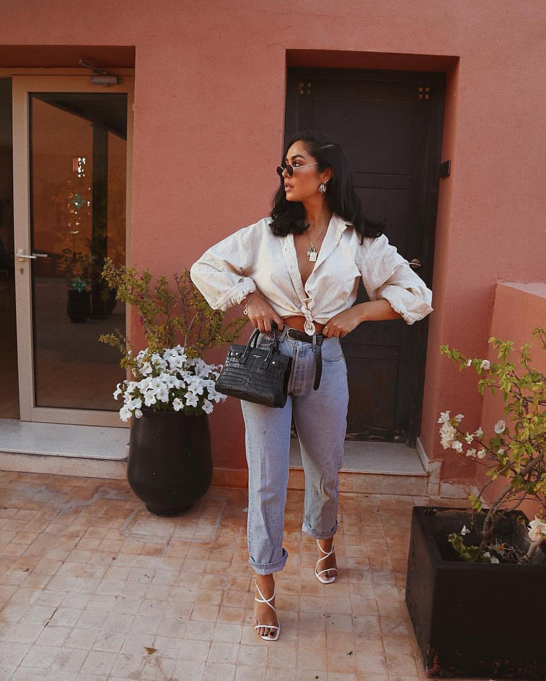 Front Tie Shirts Outfit Ideas For Women