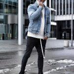 Fur, Knitwear & Denim Outfit